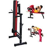 Heavy Duty Multi foldind Weights training Bench Gym Shoulder Chest Press Sit Up Barbell Fitness Full Body Workout Adjustable Exercise Equipment (weight bench)