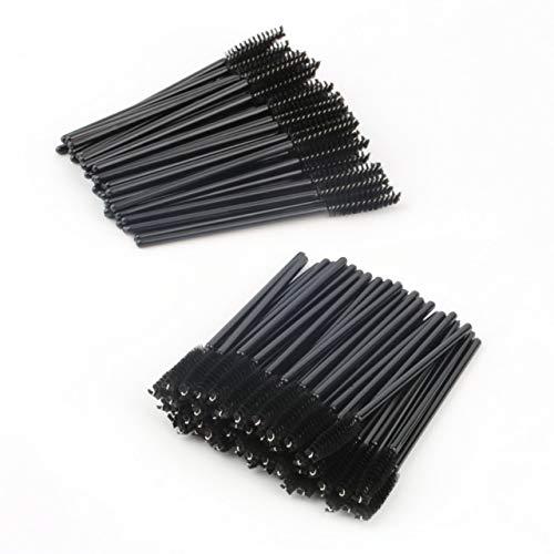 100 PCS Jetables One-Off Mini Pinceau Mascara Baguettes Applicateur composent le pinceau Livraison En Gros Accessoires de Beauté (noir) FRjasnyfall