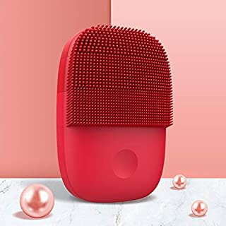 Inface Cepillo de limpieza facial versión actualizada Mijia cepillo eléctrico sónico facial herramienta de limpieza profunda impermeable para cadena de suministro Xiaomi (rojo)