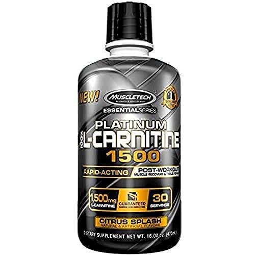 Muscletech Serie Essential Platinum L-Carnitina 1500 Supplemento, Citrus Splash - 473 ml