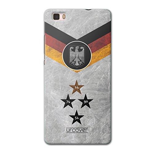 Urcover® Fußball Schutzhülle kompatibel mit Huawei P8 WM 18 Hülle [ Team Deutschland ] Fußball Case