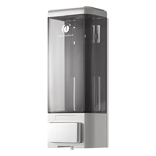 Anself - Dispensador de Jabón y Loción Manual en Líquido, 500ml, Montado a Pared para Hogar/Hotel/Oficina/Hospital/Escuela/Mercado