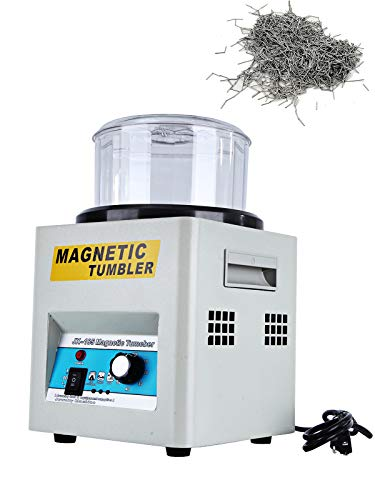 BEAMNOVA Magnetic Tumbler Jewelry Polisher Machine with Bowl Lid 180mm 2000 RPM 1-60 Minute Timing Unidirectional Rotation/Bi-Rolling