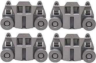 Odowalker Pack of 4 Dishwasher Premium Wheels Lower Rack for Kenmore Elite Dishwasher Parts W10195416 Kitchen Aid Dishwasher