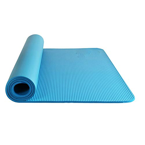 Home Gyms Doppel-Yoga-Matten-Männer und Frauen Lengthen Exercise Fitness Tanz Kinder-Yoga-Matten (Color : Water Blue)