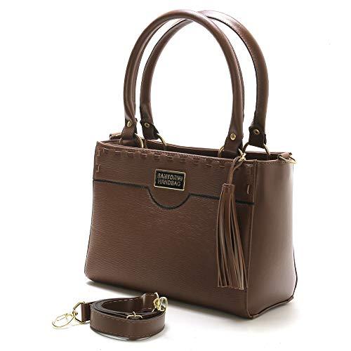 Bolsa Feminina Média Transversal Santorini Handbag (Marrom)