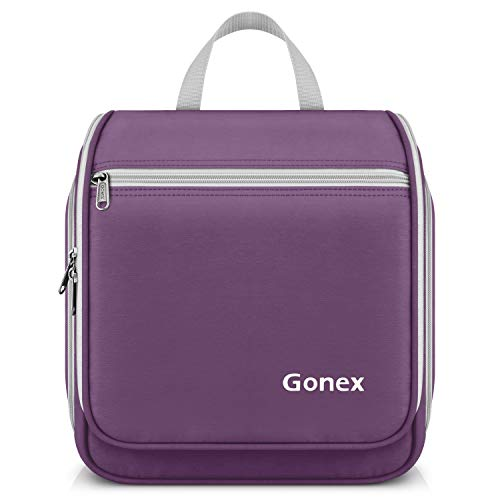 Gonex Hanging Toiletry Bag Travel Organizer Bag for Makeup and Toiletries Men Women