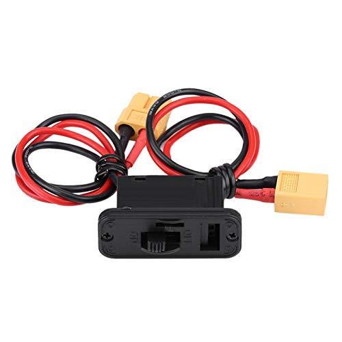 Interruptor de avión RC, Interruptor de encendido/apagado de avión de corriente grande, Interruptor de modelo RC 1 pieza 32g Conector de encendido/apagado de batería Cable 4.5 * 1.8 *