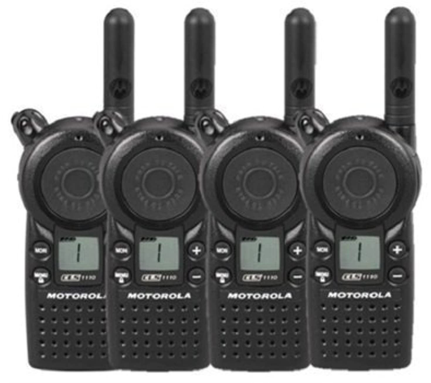 4 Pack of Motorola CLS1110 Two Way Radio Walkie Talkies (UHF)