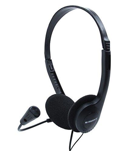 B-Move BM-AUC01 - Auriculares de diadema abiertos (con micrófono) Negro