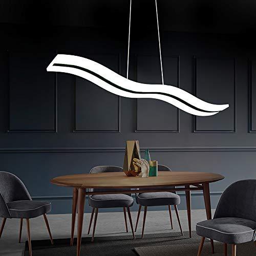 HBVAN Lampada a sospensione a LED Lampadario moderno Plafoniera Wave LED Lampadario regolabile in altezza per sala da pranzo Soggiorno Camera da letto (6000k bianco freddo)