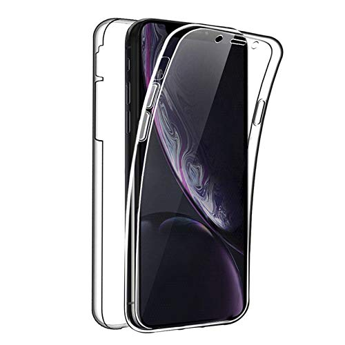 TBOC Funda para Apple iPhone XR (6.1 Pulgadas) - Carcasa [Transparente] Completa [Silicona TPU] Doble Cara [360 Grados] Protección Integral Total Delantera Trasera Lateral Móvil Resistente Golpes