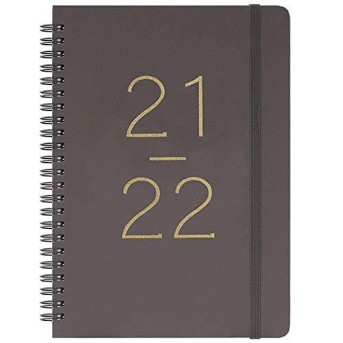 Terminkalender 2021-2022 – Wochen- und Monatskalender mit Tabs, flexibler Einband mit Doppeldrahtbindung, gebunden, 16,4 x 21,5 cm