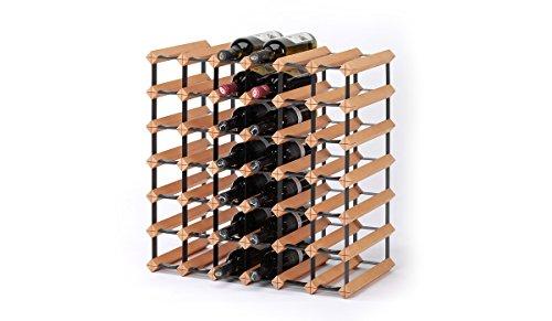 RAXI ™ Classic Premium Weinregal aus Holz mit luxuriösem Design/Flaschenregal für 42x Wein Flaschen - 61x61x30 cm