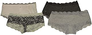JSR Womens Stretch Hipster lace Panty Briefs Underwear Combo Set Pack of 4 Beautiful Designer Color and Style