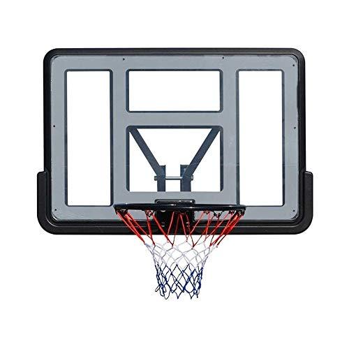 ZAIHW Exterior del aro de Baloncesto con Tablero Trasero de Pared Sistema de Baloncesto, Inicio Tablero Trasero de Baloncesto