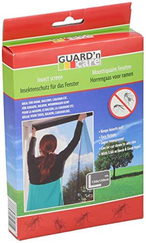 Guard'n care 9365786 Fliegengitter für Fenster-Zuschneidbares Moskitonetz-Mückenschutz ohne Bohren-Fliegen Netz Schwarz, 130 cm x 150 cm