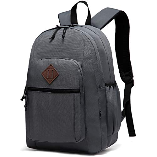 Backpack for Men Women,Chasechic Water Resistant Dual-compartments School Backpack 15-in Laptop Backpack,Gray