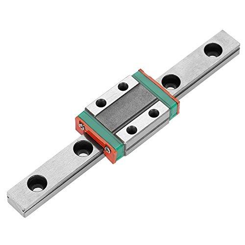Miniatur Linearschiene Führungsschiene,LML9B Mini Linear Rail Guide, 55/95/100/150/260mm Linear Schiebetür Gide 9mm Breite mit ein Kutsche Block für DIY 3D Drucker,CNC-Maschine usw(100mm)