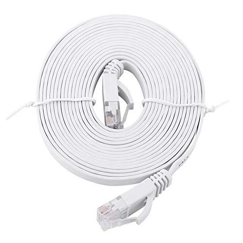 Agatige Cable Ethernet Cat 6, Blanco, Cable Plano De Red De Internet, Cable Utp, Puente, Enrutador, Cable De 1000 M, Varias Longitudes Son Opcionales(3m)