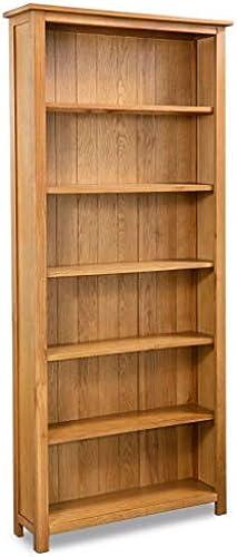 Tuduo Bücherregal, 6 Etagen, aus Eichenholz, 80 x 22,5 x 180 cm, Elegantes und einzigartiges Design