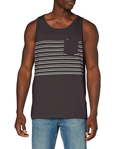 Volcom Forzee Tank Camiseta de Tirantes, Hombre, Dark Charcoal, XL