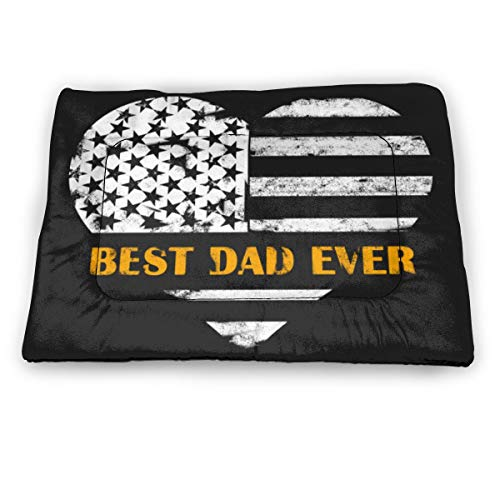 Best Dad Ever Patterned Dog Crate Mat Washable Kennel Pads Mat Anti-Slip for, Suitable for Pets Crate Pad Keep Your Pet Cool, and Reduce Joint Pain.