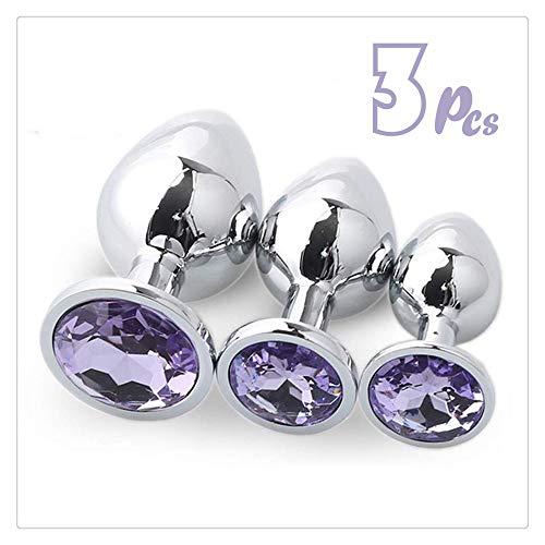 3pcs Round-shaped jewellery An-l Pl-ùg B-ütt T-ö-ys Luxusedelstein-Entwurf Bêginnêrs Mên, Wömén