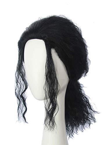 HANGCosplay Men's Black Costume Wig for Michael Jackson Cosplay