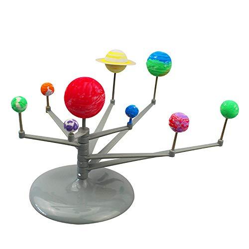 Zerodis Bebé Juguete Planeta Sistema Solar DIY Modelo Astronómico Luminoso Bola Nueve Planetas Planeta Enseñanza Modelo Ciencia Aprendizaje Niños Educación Temprana Ciencia Herramientas