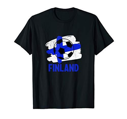 Finnische Fahne für Fußballfans I Europa Turnier Fussball T-Shirt