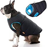 Gooby Padded Dog Vest - Solid Black, Medium - Zip Up Dog Jacket Coat with D Ring Leash - Small Dog Sweater with Zipper Closure - Dog Clothes for Small Dogs Girl or Boy for Indoor and Outdoor Use