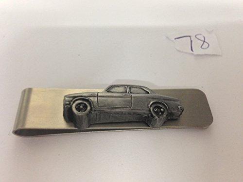 Acciaio inossidabile fermasoldi con un Ford Escort MK12porta berlina 3D effetto peltro emblema REF78