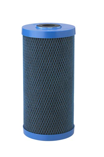 Pentair Pentek CFB-Plus10BB Big Blue Carbon Water Filter, 10-Inch, Whole House Fibredyne Modified Molded Carbon Block Replacement Cartridge, 10' x 4.5', 5-10 Micron