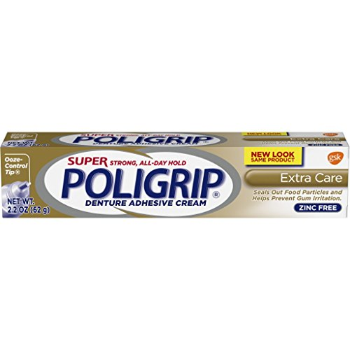 SUPER POLIGRIP Denture Adhesive Cream Extra Care 2.20 oz