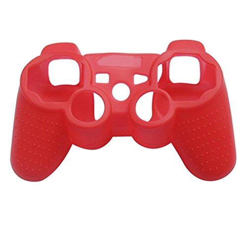 Steellwingsf - Funda protectora de silicona para mando de Playstation 3 PS3 Gamepad rojo rosso talla única
