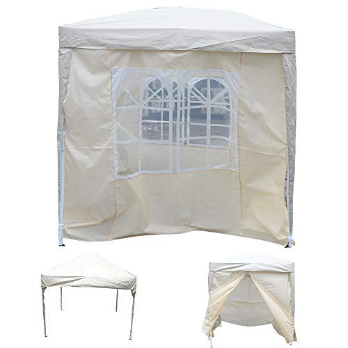 Garden Gazebo Marquee Tent, Waterproof Folding Sunshade Awning Tent Outdoor Garden Awning Party Tent with Carry Bag, 2 x 2m