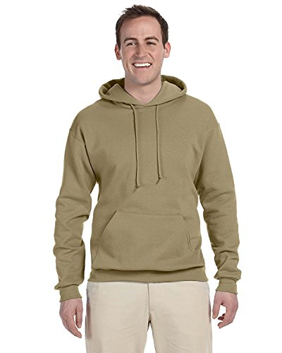 Jerzees 8 oz. NuBlend 50/50 Pullover Hood, Khaki - Large
