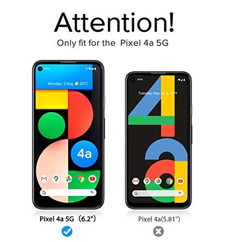 ivoler 4 Stück Panzerglas Schutzfolie Kompatibel für Google Pixel 4A 5G, Panzerglasfolie Mit Positionierhilfe, 9H Härte, Anti-Kratzen, Anti-Bläschen, Hülle freundlich, Kritall-Klar