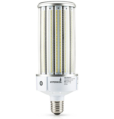 Hyperikon LED Corn Bulb Street Light, 150W (HIP HID Replacement), Outdoor Area Lighting E39 Large Mogul, 5000K, Waterproof