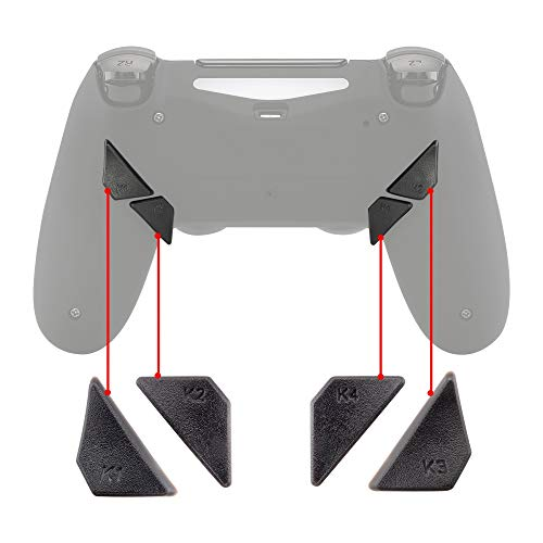 eXtremeRate Replacement Ergonomic Back Buttons, K1 K2 K3 K4 Paddles for PS4 Controller Dawn Remap Kit (Only fits with eXtremeRate Remap Kit)