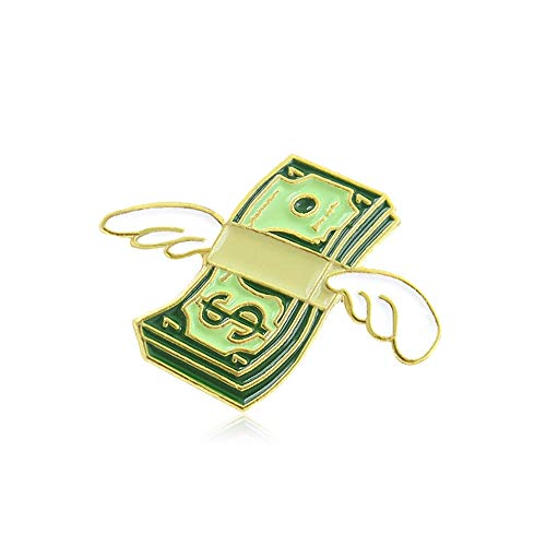 GAOX *Cartoon Creative Letter Angel Wings Cute Pizza Dance Flying Dollar Combination Brooch Ornament(Size:2)