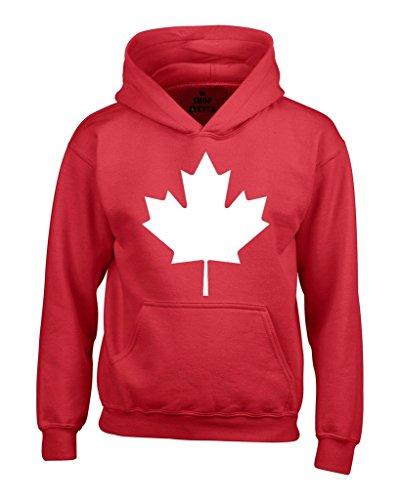 shop4ever Canada White Leaf Hoodie Sweatshirts Medium Red 0