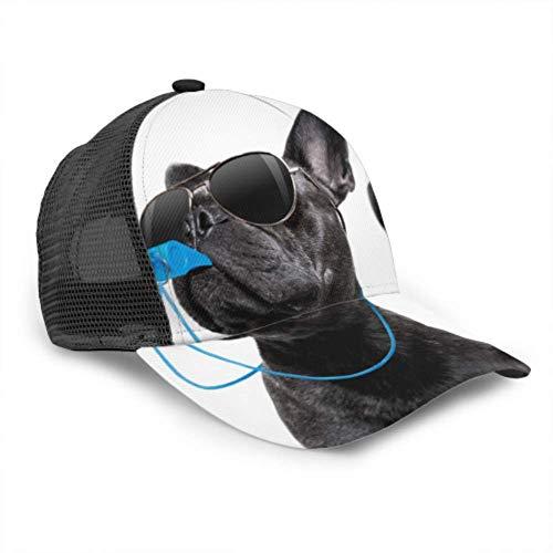 LINPM Unisex Baseball Cap, Schiedsrichter Schiedsrichter Schiedsrichter French Bulldog Dog Verstellbare Baseball Cap Outdoor Sports Hats