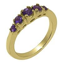 英国製(イギリス製) K9 イエローゴールド 天然 アメジスト レディース リング 指輪 各種 サイズ あり