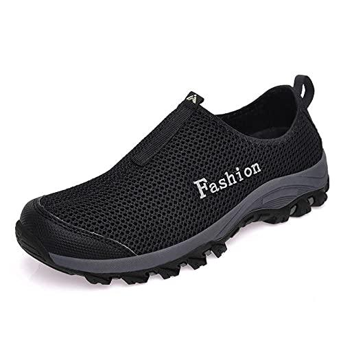 Gym Shoes Lightweight Shoes,Zapatos de Internet zapatos deportivos para hombres al aire libre, zapatos casuales y transpirables para hombres, zapatos de senderismo-negro_44,Botas de montaña deportivas
