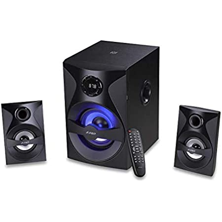 F&D F380X 54W 2.1 Bluetooth Multimedia Speaker with Multi Color LED- Black