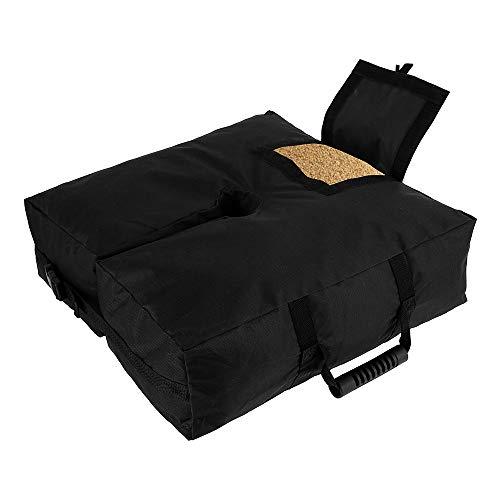 Bolsa de peso desmontable con base de paraguas, bolsas de arena resistentes con 2 asas para arena, resistente a la intemperie, soporte de soporte