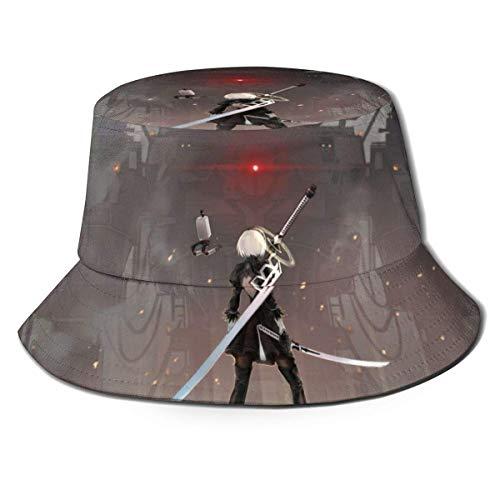 2B Fisherman Hat Unisex impreso de doble cara Folle Buet Sombrero, fácil de llevar sin deformación, disfruta del aire libre en comodidad y estilo Bla