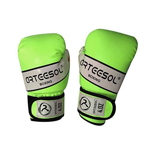 Arteesol Children's Boxing Gloves 4 oz 1 Pair for Kids Training Punch...